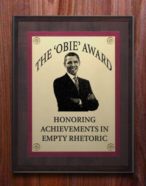 Barack Obama Empty Rhetoric Award